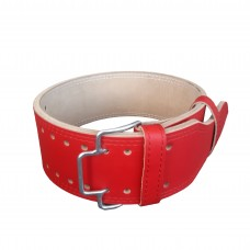 Пояс для пауэрлифтинга с зацепом (красный)