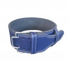 Пояс для пауэрлифтинга с зацепом (синий)