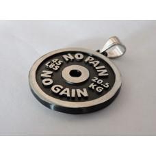 """Кулон """"Диск от штанги 34 мм NO PAIN black"""""""